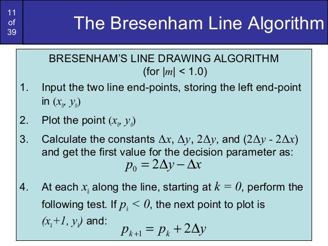 Bresenham Line Drawing Algorithm Doc : Bresenham circles and polygons in computer graphics