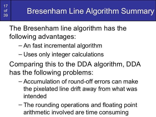 Bresenham Line Drawing Algorithm Solved Example : Bresenham circles and polygons in computer graphics