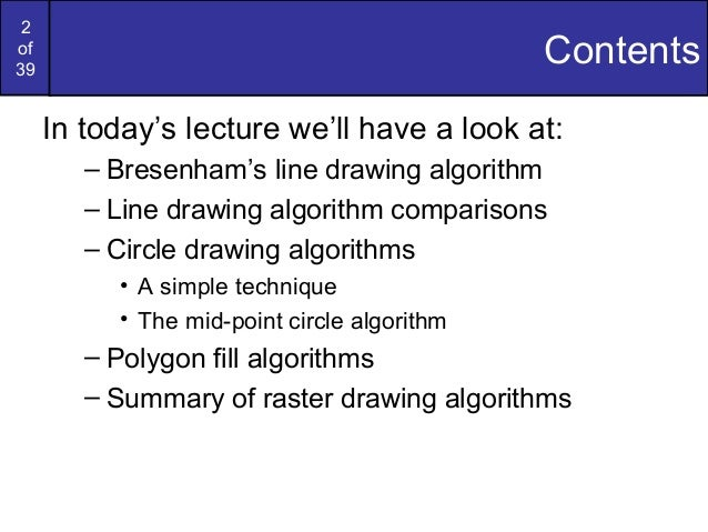 Limitations Of Bresenham S Line Drawing Algorithm : Bresenham circles and polygons in computer graphics