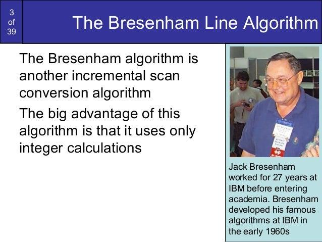 Bresenham Line Drawing Algorithm Advantages And Disadvantages : Bresenham circles and polygons in computer graphics