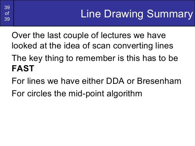 Bresenham Line Drawing Algorithm All Cases : Bresenham circles and polygons in computer graphics