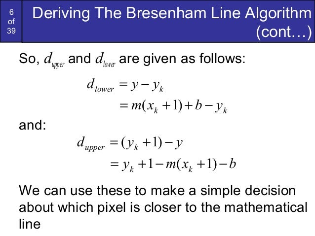 Bresenham Line Drawing Algorithm Mathematically : Bresenham circles and polygons in computer graphics