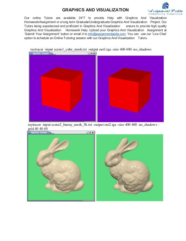 raytracer -input scene1_cube_mesh.txt -output out1.tga -size 400 400 -no_shadows raytracer -input scene2_bunny_mesh_5k.txt...