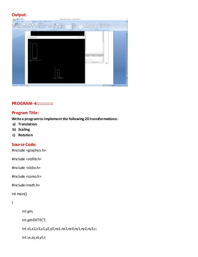 Computer Graphics and Multimedia lab report