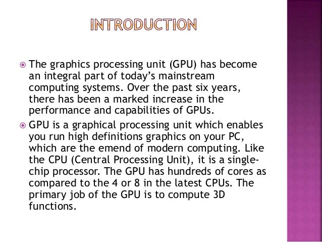 Graphics processing unit ppt Slide 2