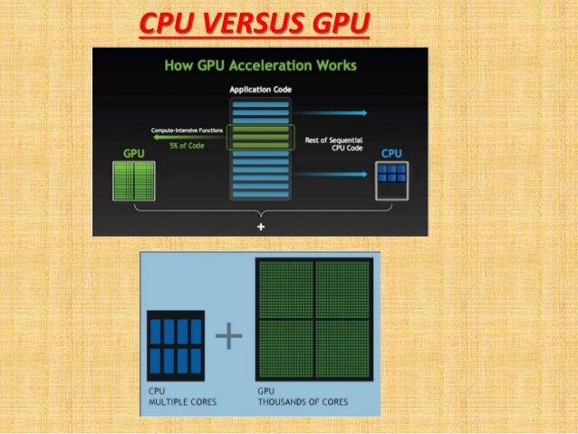 CPU VERSUS GPU