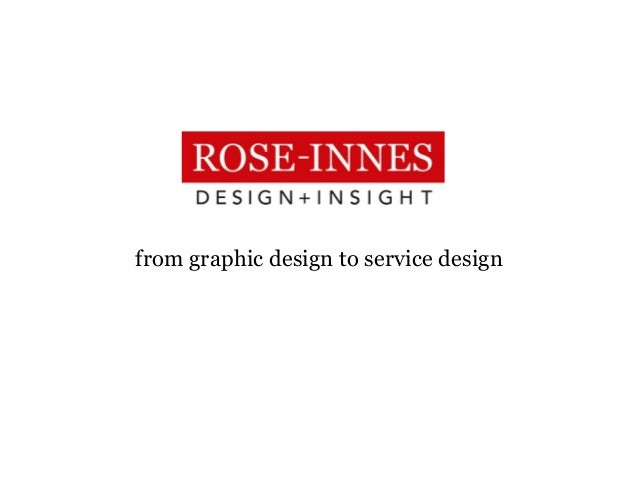 from graphic design to service design
