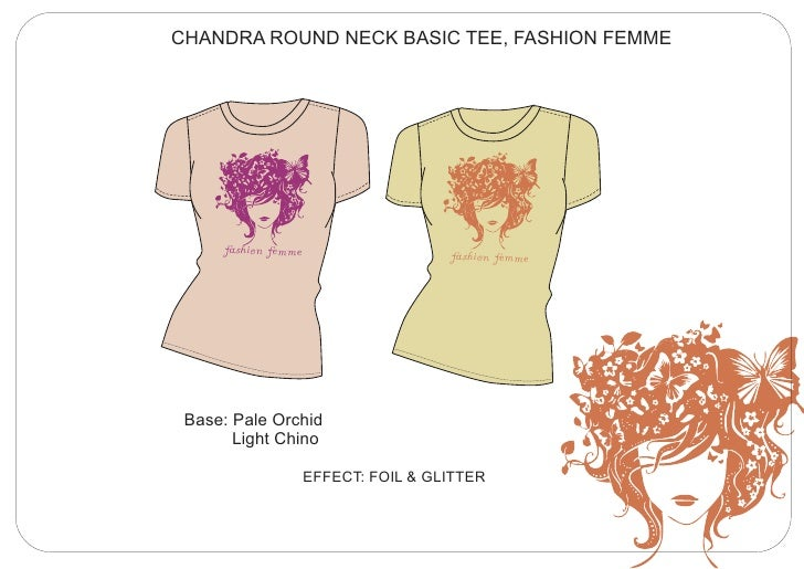 CHANDRA ROUND NECK BASIC TEE, FASHION FEMME      fashion femme                    fashion femme Base: Pale Orchid       Li...