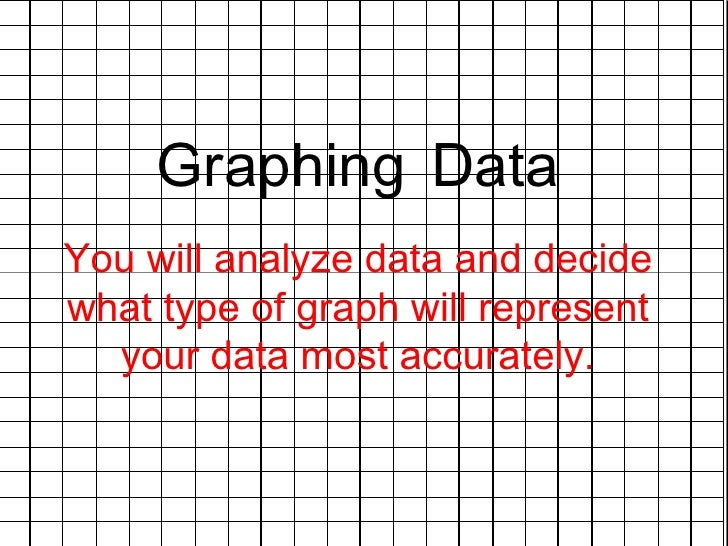 Graphing   Data You will analyze data and decide what type of graph will represent your data most accurately.