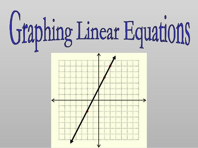 Linear Equation: an equation whose graph forms a line. 1143 =− yx 262 +−= xxy is linear. is not. In linear equations, all ...