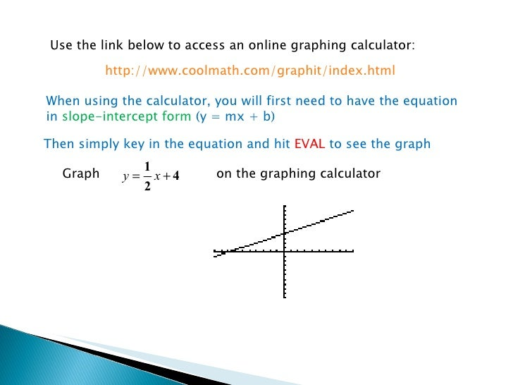 Graphing Linear Equations Lesson