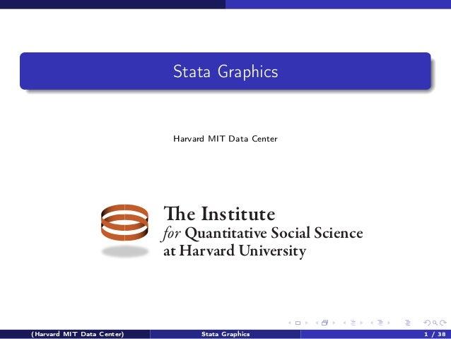Stata Graphics  Harvard MIT Data Center  The Institute  for Quantitative Social Science at Harvard University  (Harvard MI...