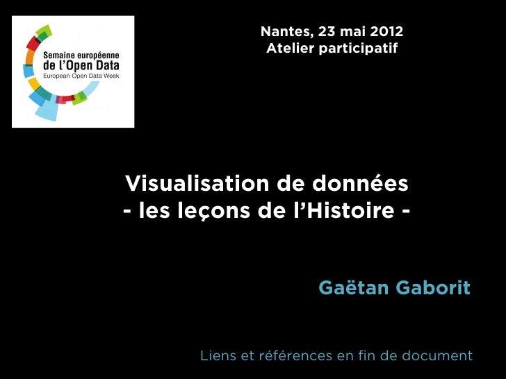 Nantes, 23 mai 2012                Atelier participatifVisualisation de données- les leçons de l'Histoire -               ...