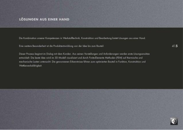 """Image-Broschüre der Firma """"Graphite Materials"""""""