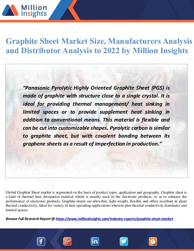 graphite sheet market size manufacturers analysis and distributor analysis to 2022 by million insights