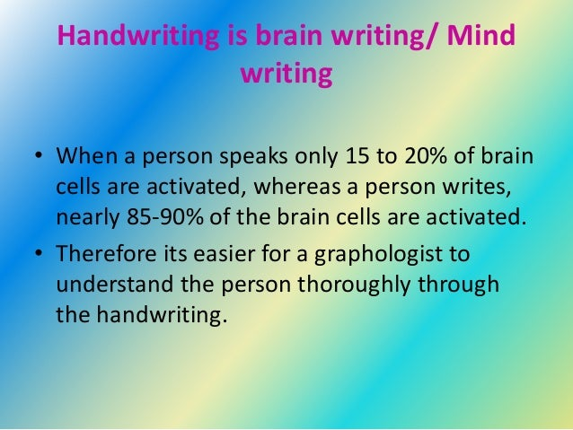 your handwriting tells your personality