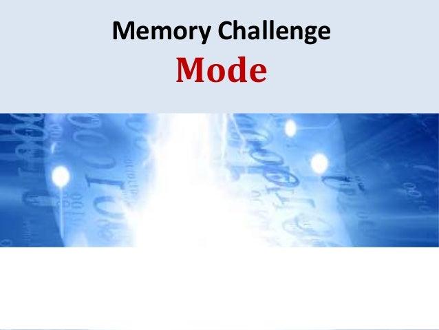 Memory Challenge Mode