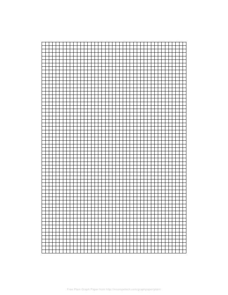 plain graph paper template
