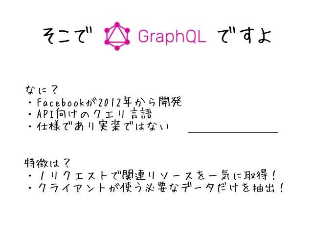 RESTful GraphQL 最近グググーってきてます