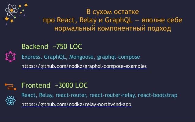 React, GraphQL и Relay - вполне себе нормальный компонентный