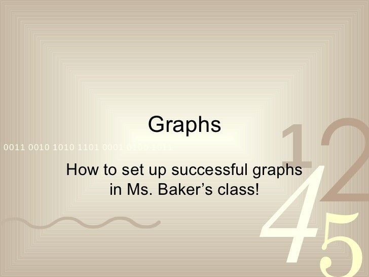 Graphs How to set up successful graphs in Ms. Baker's class!
