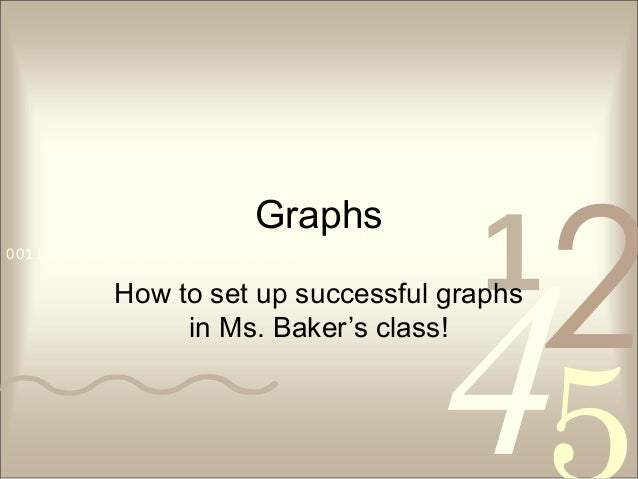 4210011 0010 1010 1101 0001 0100 1011 Graphs How to set up successful graphs in Ms. Baker's class!