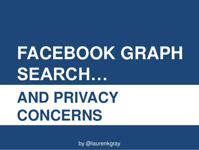 FACEBOOK GRAPHSEARCH…AND PRIVACYCONCERNS      by @laurenkgray