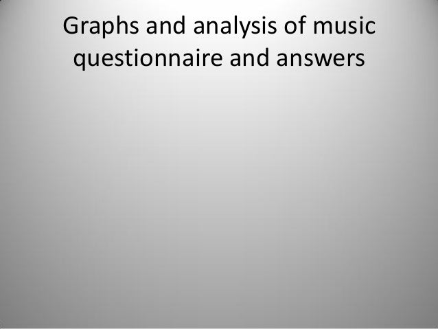 Graphs and analysis of music questionnaire and answers