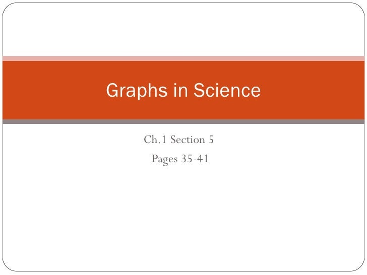 Ch.1 Section 5  Pages 35-41 Graphs in Science