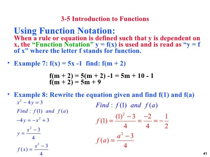 use function notation to write the equation of the line A piecewise defined function is a function defined by at least two equations the graph is a straight line this site will use the single bracket notation y = [x.