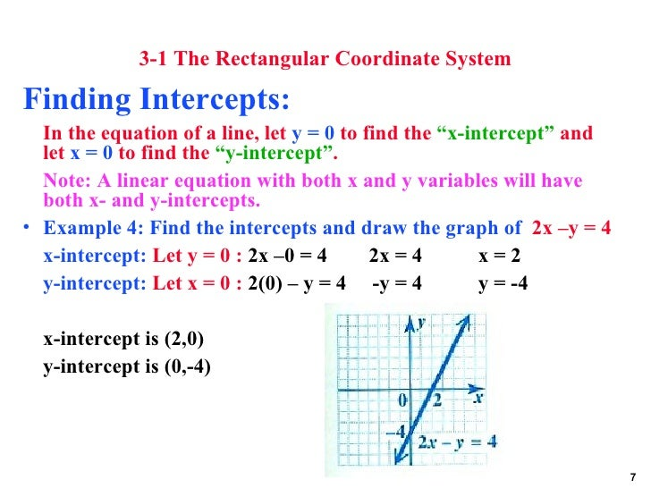 how to write an equation in standard form using x and y intercepts