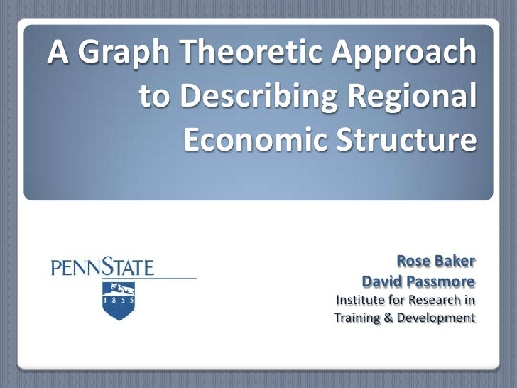 A Graph Theoretic Approach to Describing Regional Economic Structure<br />Rose Baker<br />David Passmore<br />Institute fo...