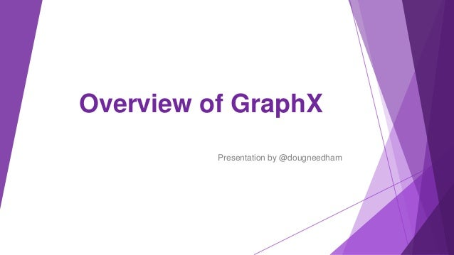 Overview of GraphX Presentation by @dougneedham