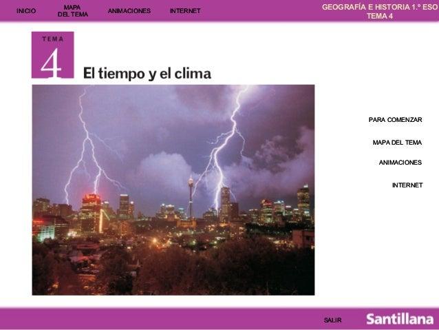 GEOGRAFÍA E HISTORIA 1.º ESO TEMA 4 INICIOINICIO MAPA DEL TEMA MAPA DEL TEMA ANIMACIONESANIMACIONES INTERNETINTERNET PARA ...