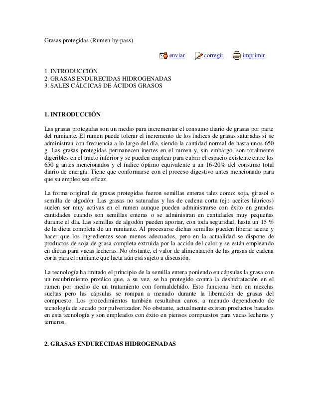 Grasas protegidas (Rumen by-pass)                                                   enviar         corregir        imprimi...