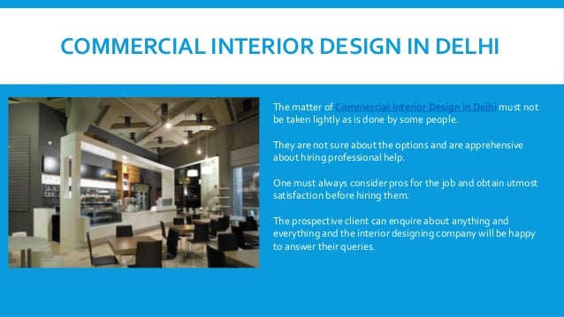 Grasping the basics of Commercial Interior Design in Delhi NCR