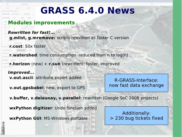 The upcoming GRASS GIS 6 4 0 release