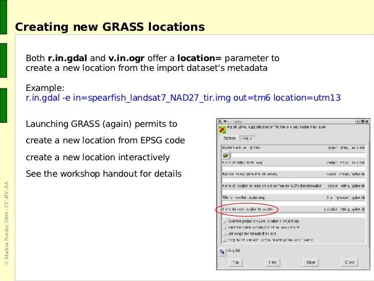 The GRASS GIS software (with QGIS) - GIS Seminar