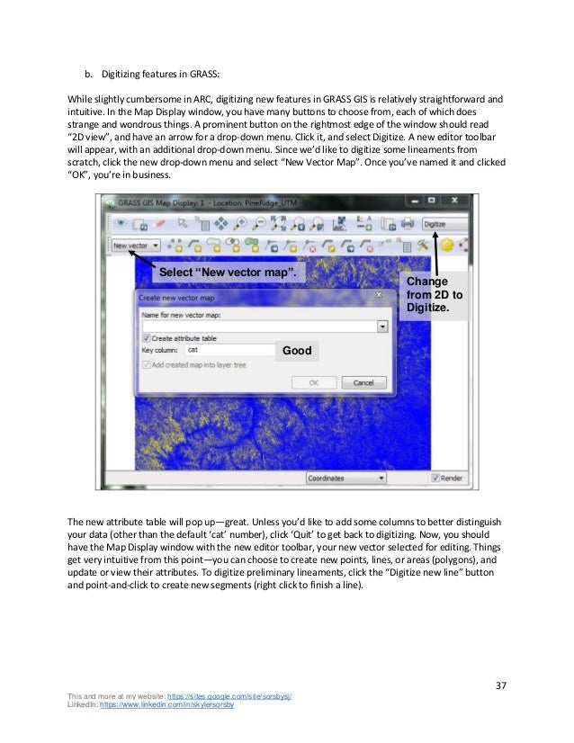 Introduction to geomorphology in GRASS GIS - by Skyler Sorsby