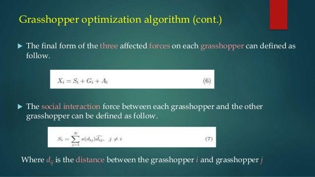Grasshopper optimization algorithm