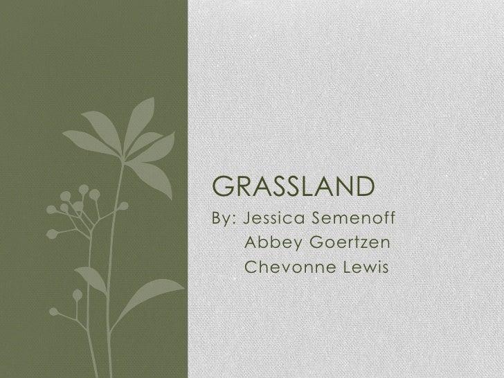 By: Jessica Semenoff<br />      Abbey Goertzen<br />Chevonne Lewis <br />Grassland<br />