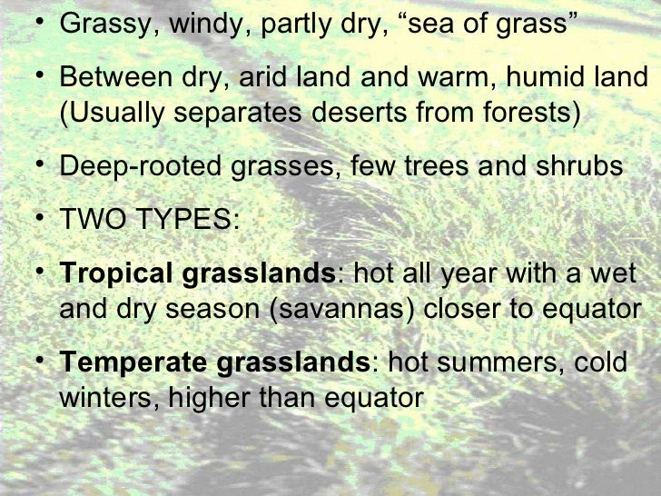 grassland notes notes on worlds grassland types