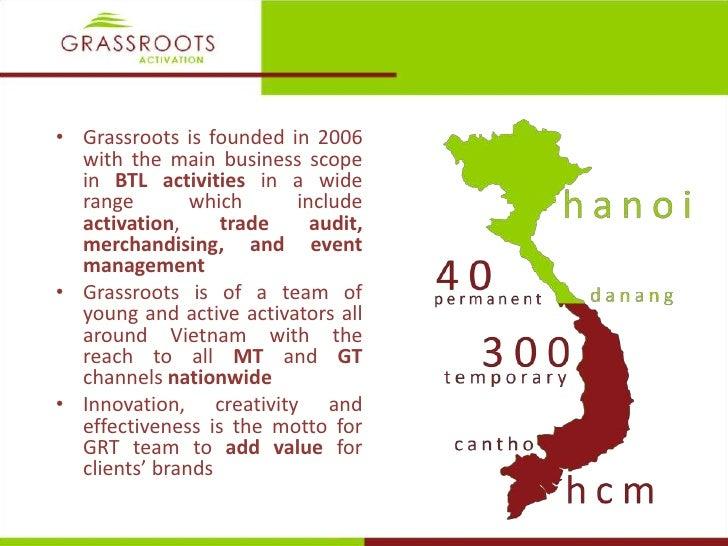 Grassroots activation credential 2011  Slide 2