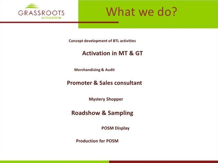 Grassroots activation credential 2011  Slide 3