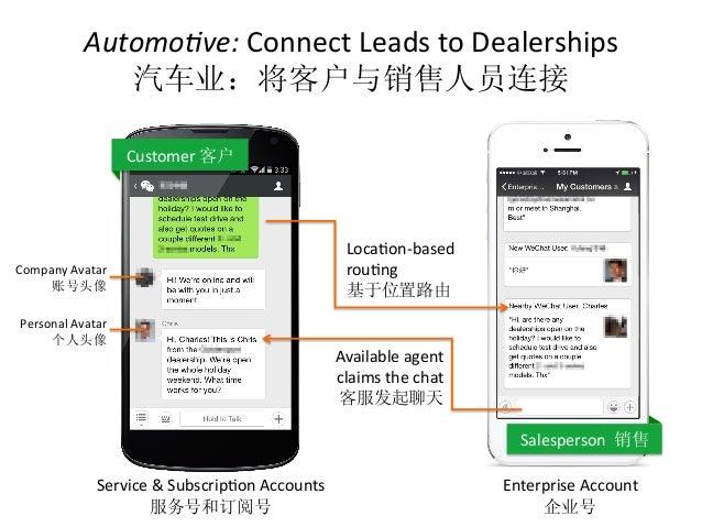 Automo5ve:  Connect  Leads  to  Dealerships   汽车业:将客户与销售人员连接   Service  &  SubscripCon  Accounts   服务号...