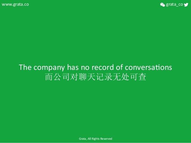The  company  has  no  record  of  conversaCons   而公司对聊天记录无处可查   www.grata.co   grata_co   Grata,  A...