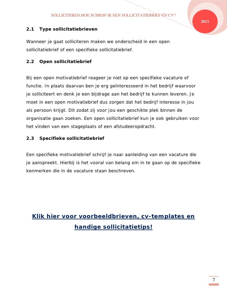 motivatiebrief aanhef