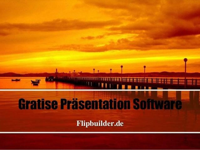 Gratise Präsentation Software Flipbuilder.de