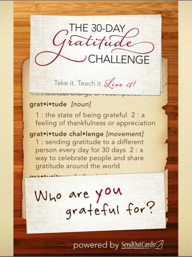 30 Day Gratitude Challenge