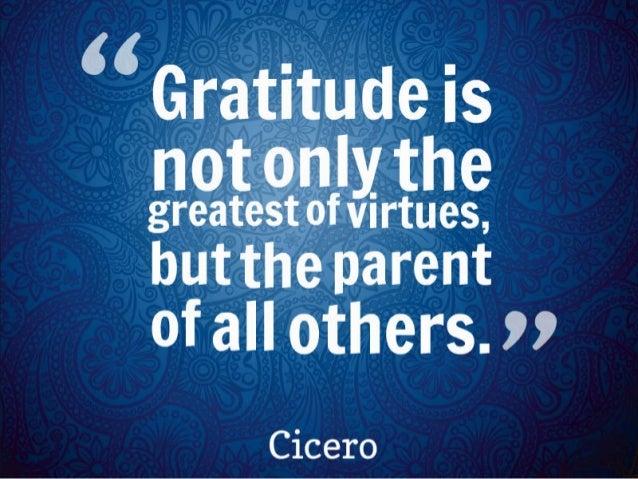 The virtue of gratitude